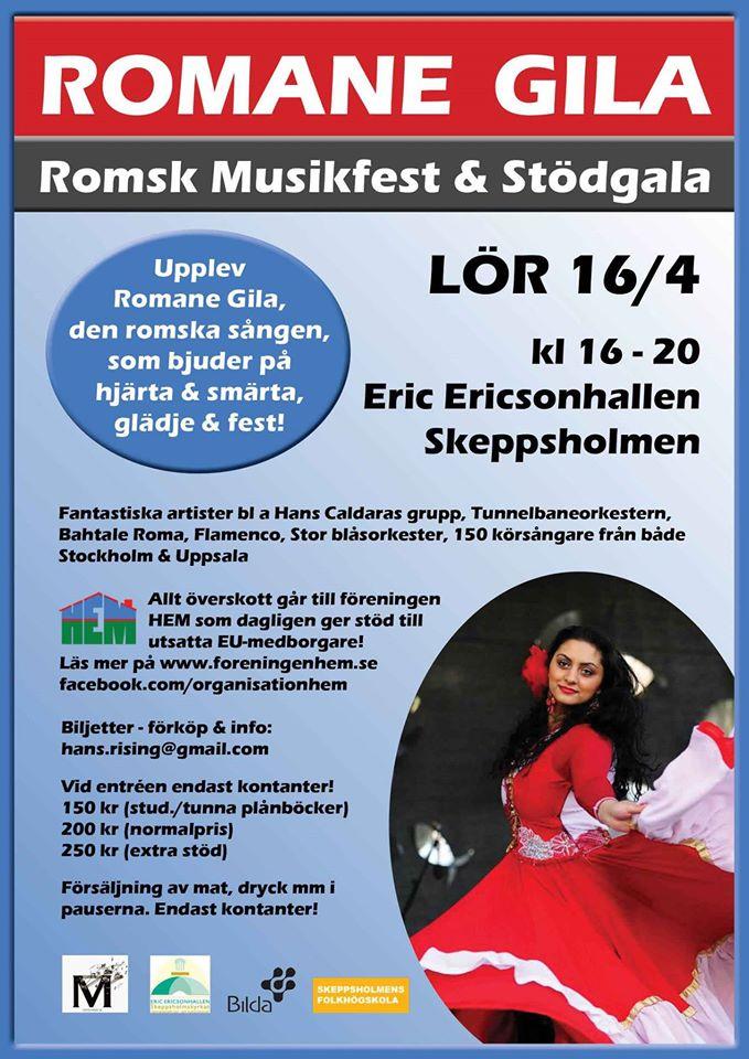 Romane Gila - Romsk musikfest och stödgala
