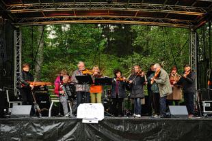 Gåsandersbygdens spelmanslag på Musik vid Långsjön