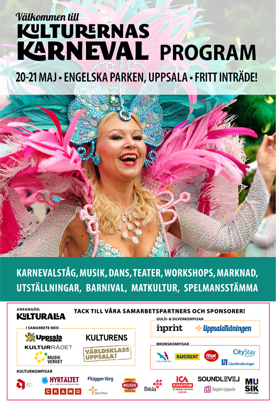 Kulturernas Karneval programblad 2017